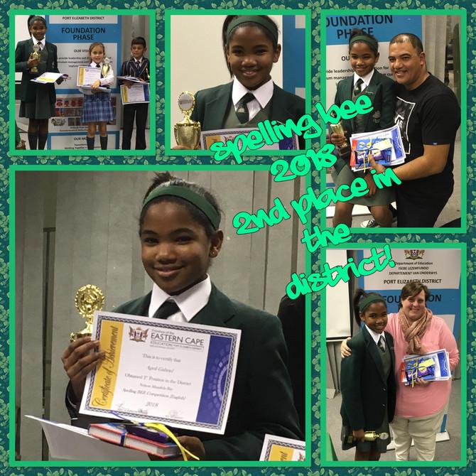 PE District Spelling Bee 2018