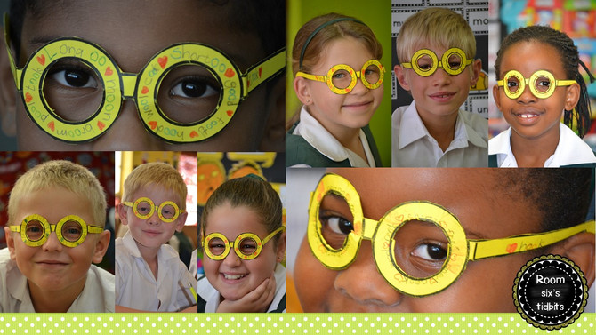 """Room 6's fabulous """"LOOKING"""" glasses"""
