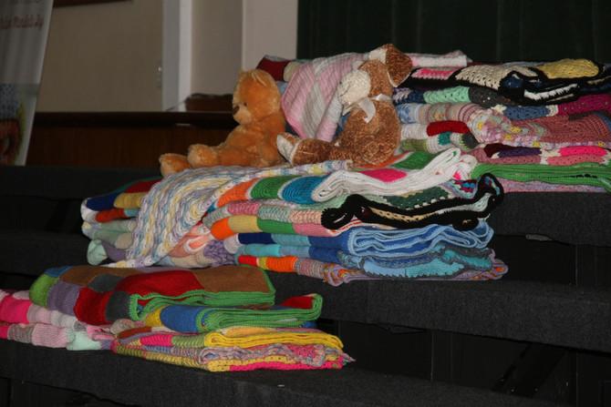 67 Blankets for Mandela Handover
