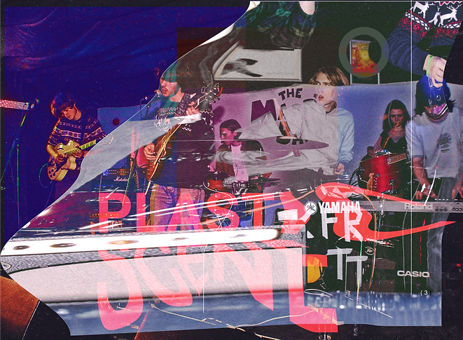 Plastic Scene collage created by frontman Benedict Ludlow