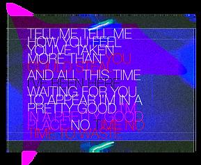 Lyric artwork for Plastic Scene's song Yoghurt.