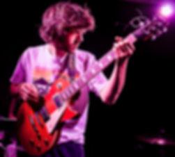 Benedict Ludlow of Plastic Scene at the band's headline gig at the Victoria, Birmingham