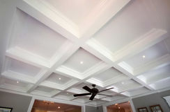 Coffered, wafle celling