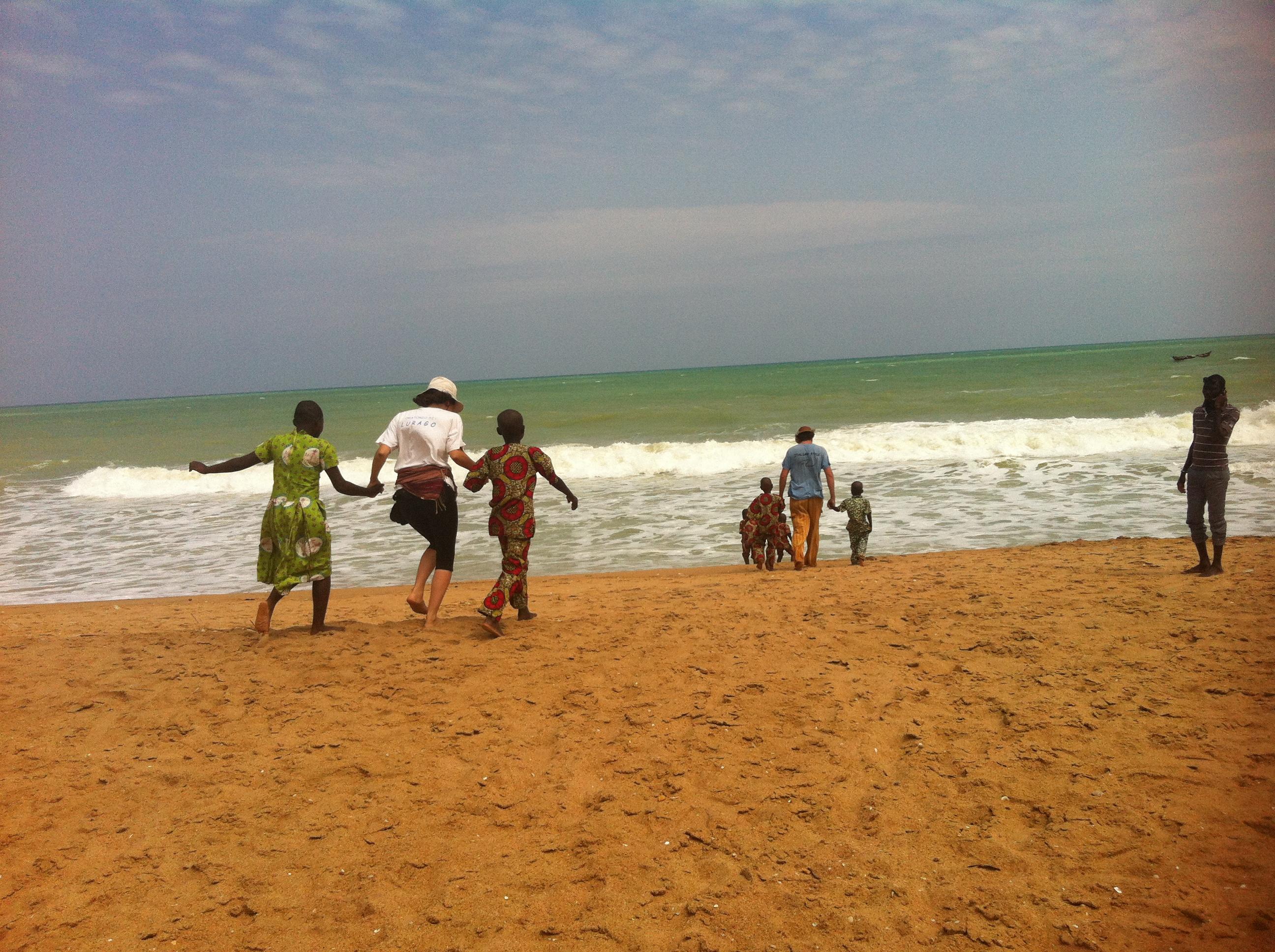 Benin - Primo incontro con l'Oceano