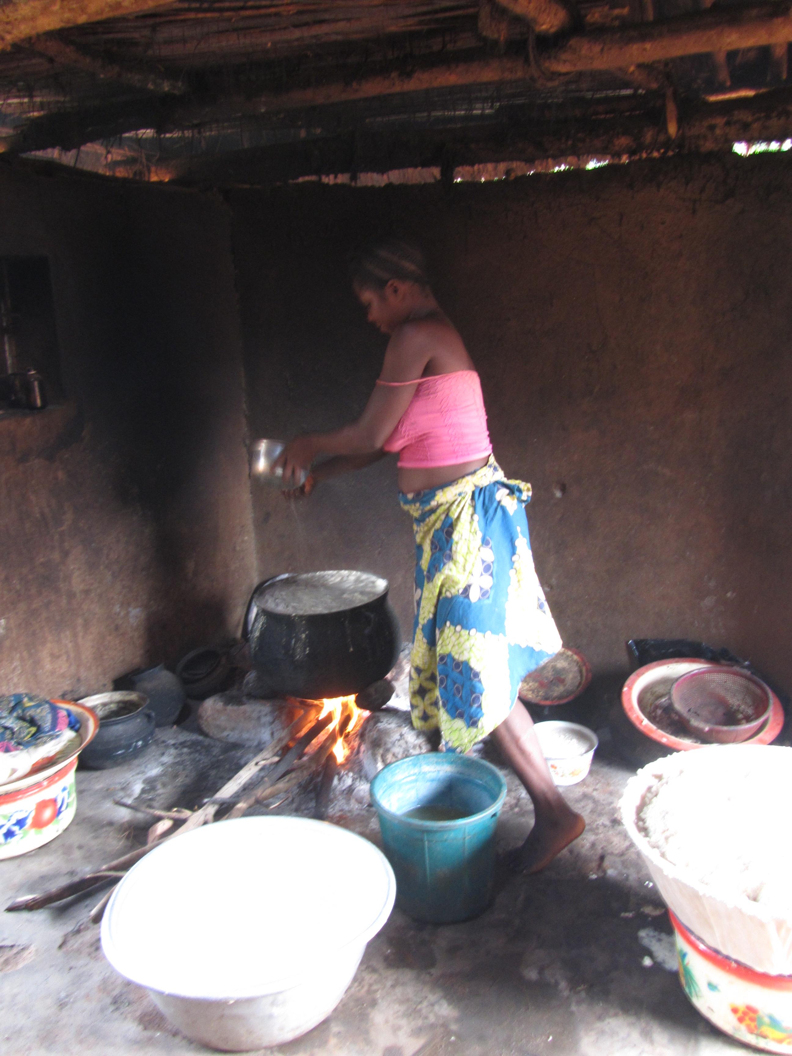 Cucina tradizionale in capanna