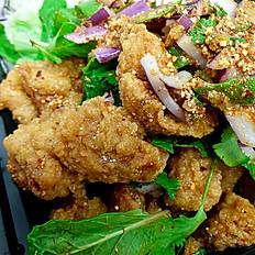 Crispy Chicken Larb Salad