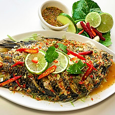 STEAM FISH WHIT SPICY LIME SAUCE