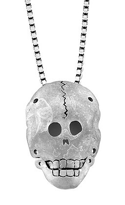"""Funeral Skull Mask"" Necklace"