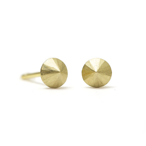 Round Cast Diamond Stud Earrings