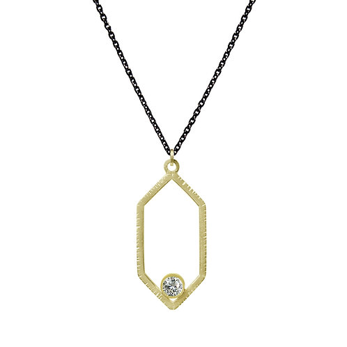 Hexagon Diamond Pendant