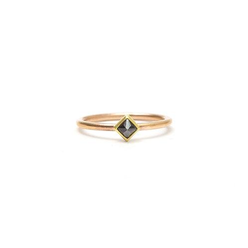 Black Diamond Princess Cut Ring