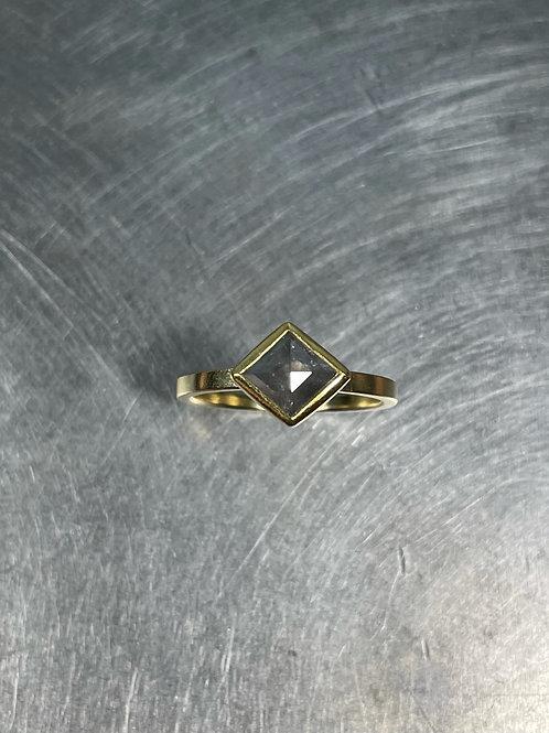 Grey Diamond Kite Ring