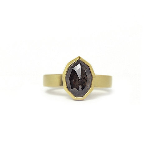 Geometric Grey Diamond Ring