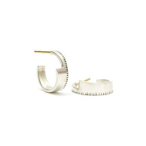 Small Wedge Hoop Earrings