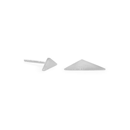 Elongated Triangle Stud Earrings