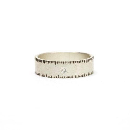 6mm Notched Diamond Ring