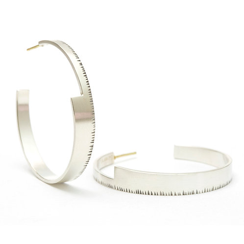 Large Wedge Hoop Earrings