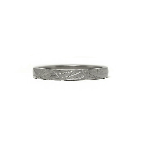 Ice Crystal Engraved Band