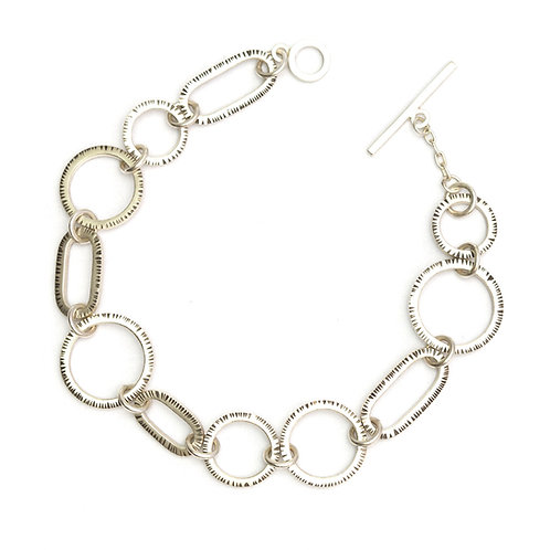 Circle and Oval Link Bracelet