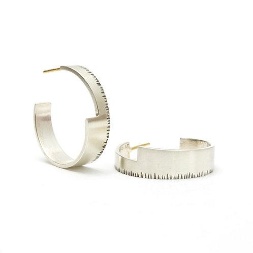 Medium Wedge Hoop Earrings