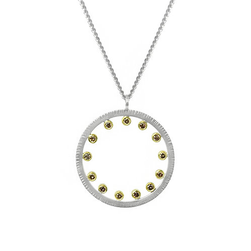 13 O'Clock Diamond Pendant