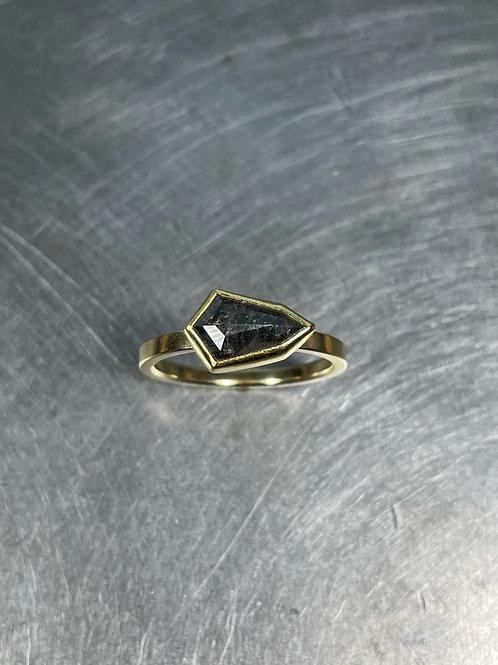 Grey Diamond Shield Ring