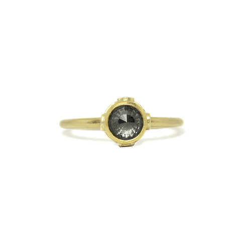 Grey Diamond Temple Ring