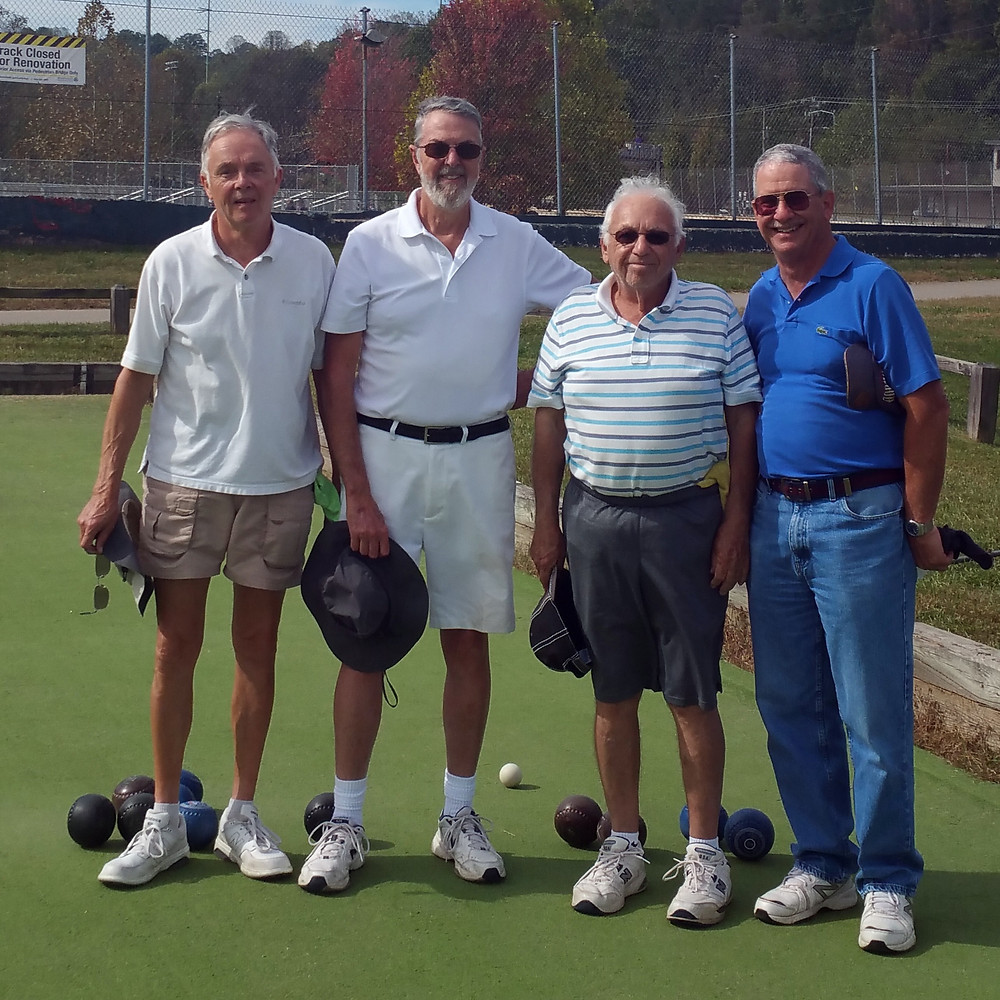 Photo left to right: Roger Parkin, Ladd Painter, Stan Binder and Stan Glickman