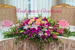 sweet heart table arrangment
