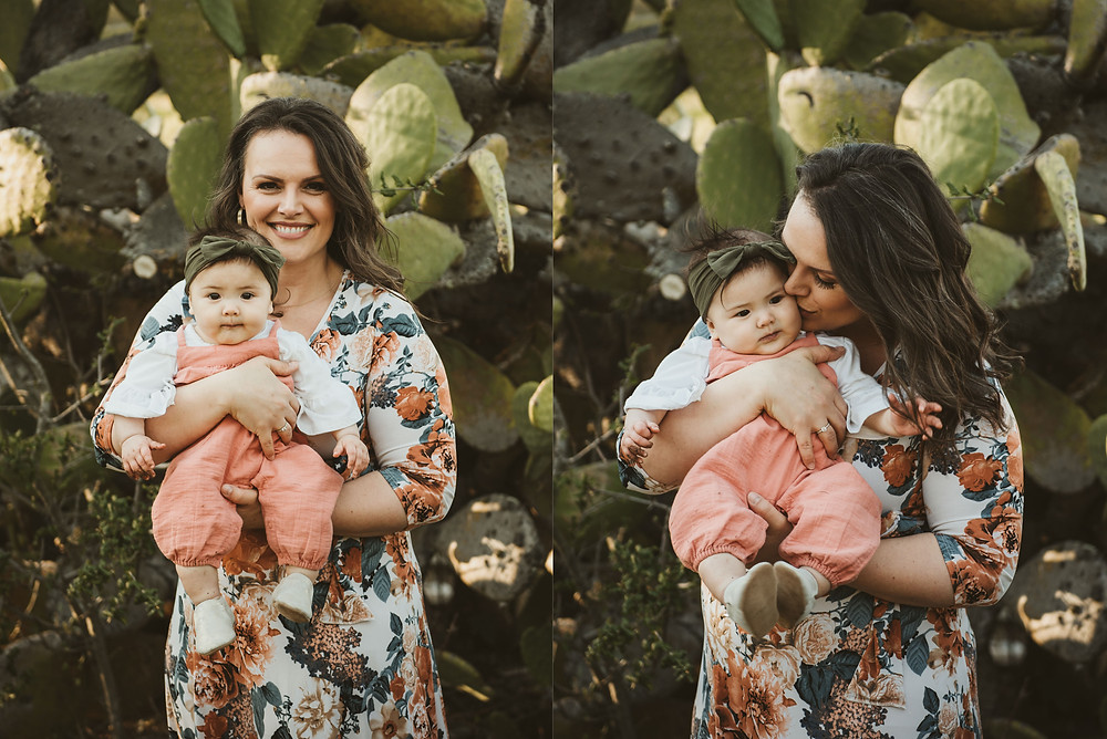 baby girl, family photography, mother and daughter