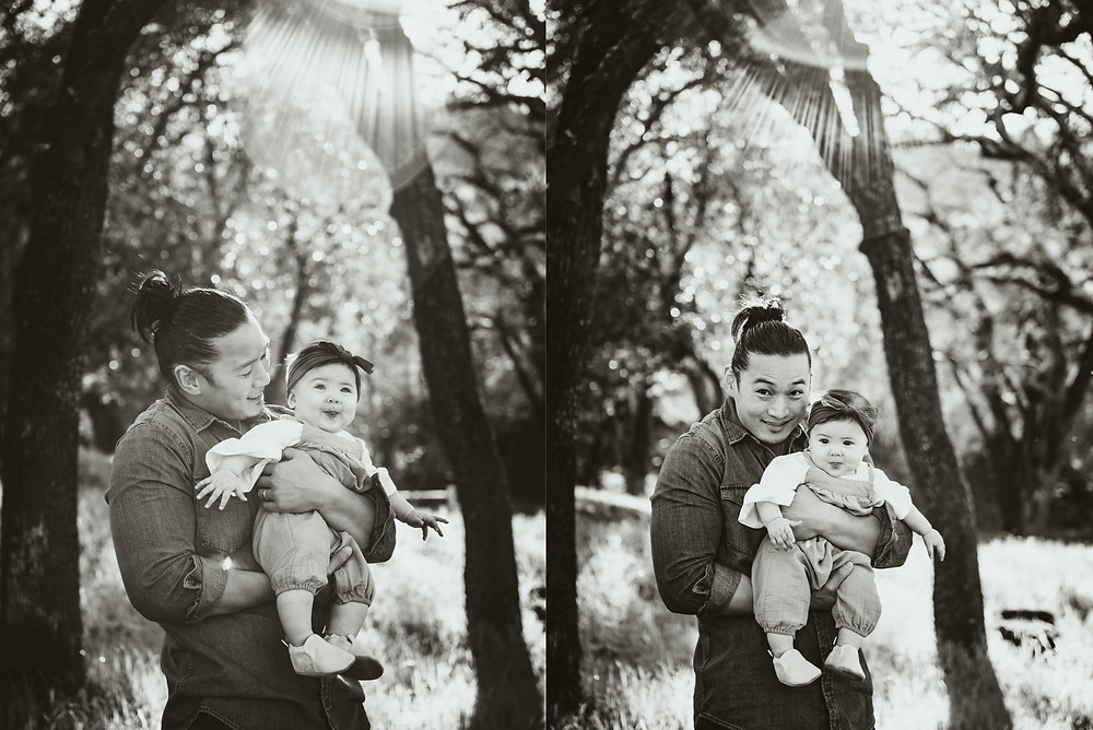 Napa family photographer, father and daughter