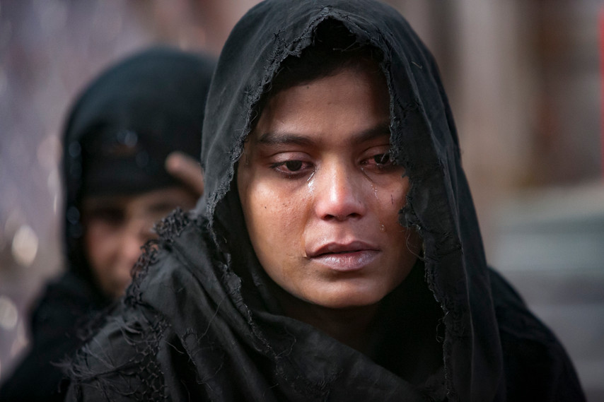 Rohingya women gave testimonies of soldiers entering villages and separating the women from the men. Soldiers covered the women's faces and raped them.  —Rohingya survivors of rape. Thyankhali Camp. Photo by Alllison Joyce.