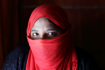 Nur is receiving counselling and attending a number of women's programs to increase her confidence and cope with anxiety. She plans to become a leader in her community and help other women cope with the trauma of their abuses.  ​ —Hakim Para Camp. Photo by Fabeha Monir.