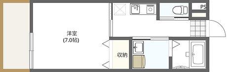 パース大学学生マンション 間取り図 西向.jpg