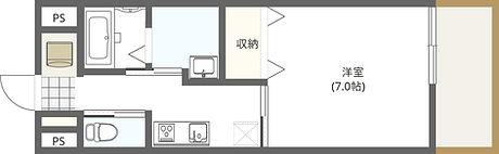 パース大学学生マンション 間取り 東向2.jpg