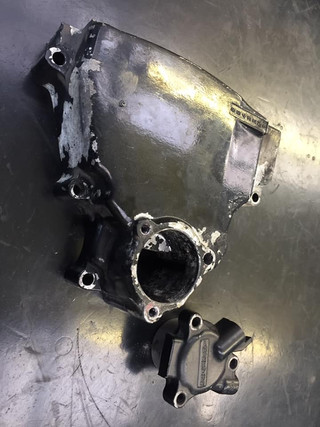 Kawasaki GPX 1000 engine casings to be blasted