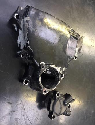 Kawasaki GPX 1000 engine casings to be blasted