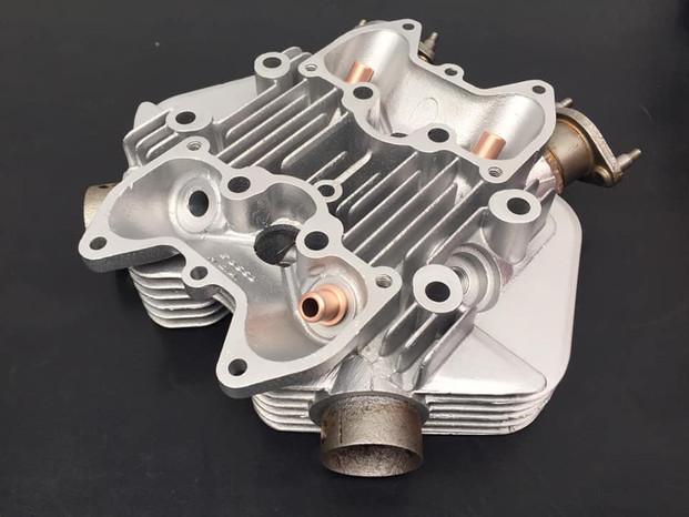 Aqua blasted Triumph cylinder head