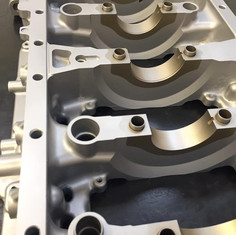 Honda K series race engine lower block vapour blasted