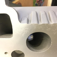 Audi TT cylinder head aqua blasted