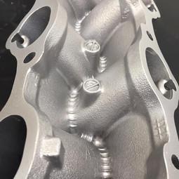 V6 Nissan engine components vapour blasted
