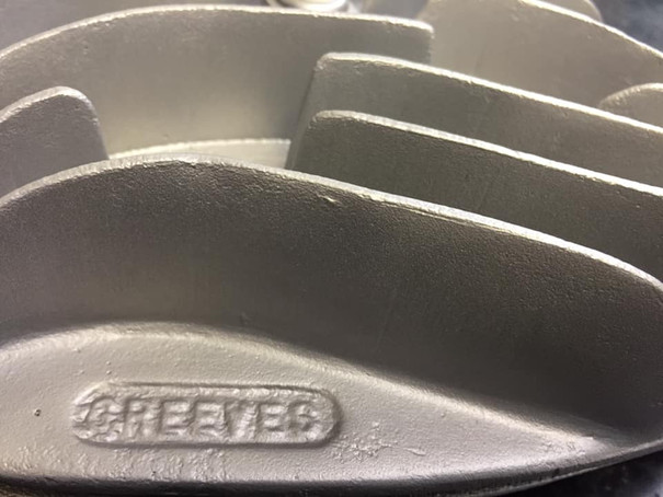 Greeves cylinder head Vapour blasted