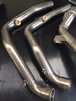 BMW stainless steel exhaust pipes vapour blasted