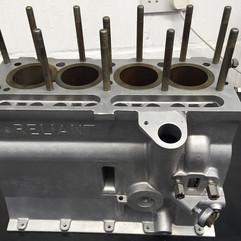 Aqua Blast Cleaned Reliant Regal engine block