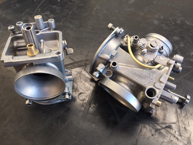 Pair of Mikuni carbs Vapour blast and Ultrasonic cleaned to ensure they are as clean inside as outside