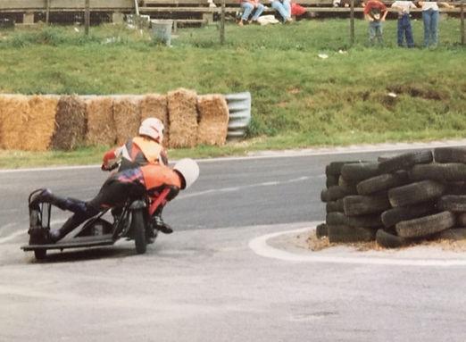 Fred BSA B33 500 vintage sidecar racing Cadwell Park