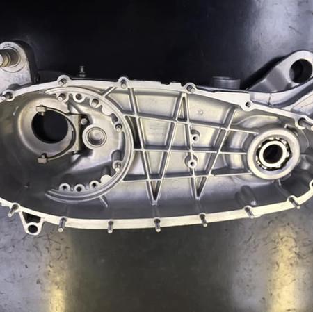 Lambretta engine casing after vapour blasting