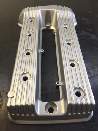 BMW motorcycle rocker covers Vapour blasted ready for the painter