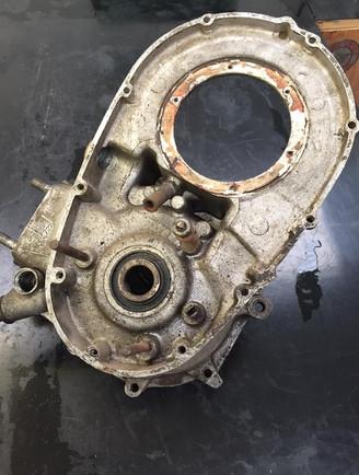Triumph twin engine needing aqua blasting