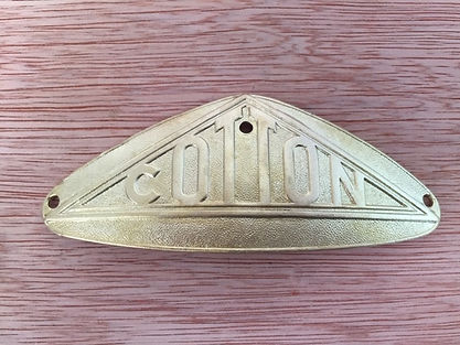 Brass Tank Badge Aqua Blast Cleaned